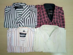 Clothes donation – 4 L size shirts