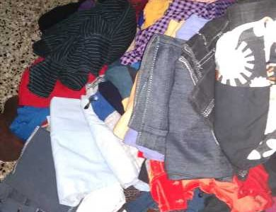 old clothes of women and kids